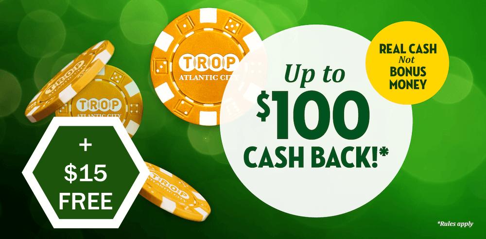 Tropicana Casino Cashback Bonus