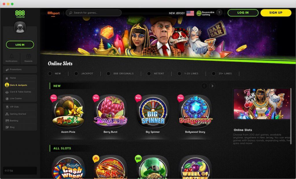 888 Online Casino Lobby