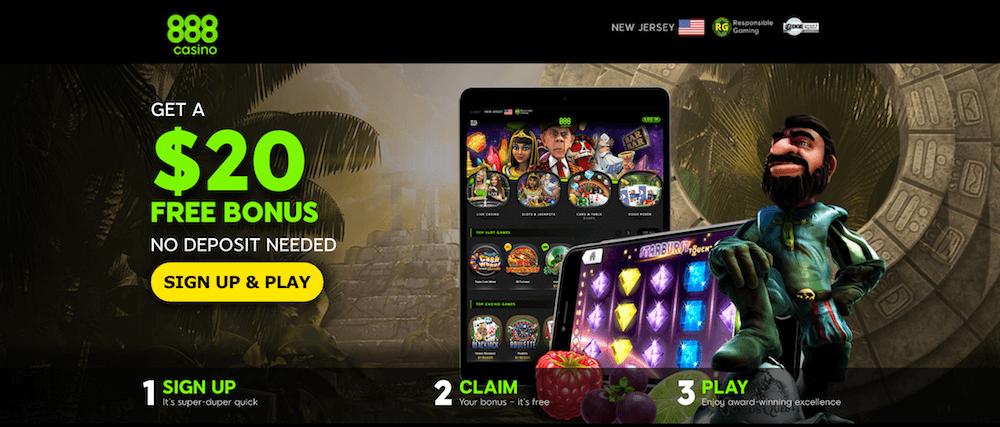 888 Casino NJ Landing Page