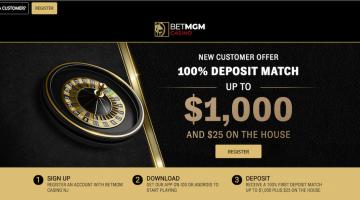 BetMGM Landing Page