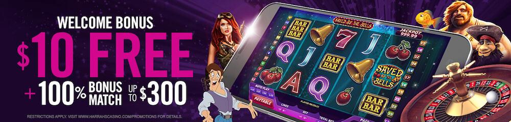 Harrahs Casino Welcome Bonus