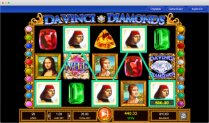 Da Vinci Diamonds paylines