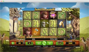 Jack and the beanstalk slot reels