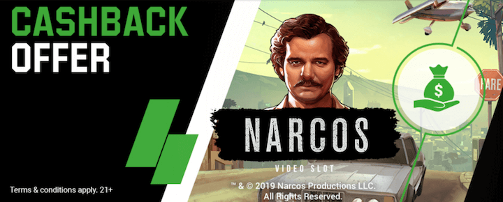 Unibet Cashback Offer Narcos