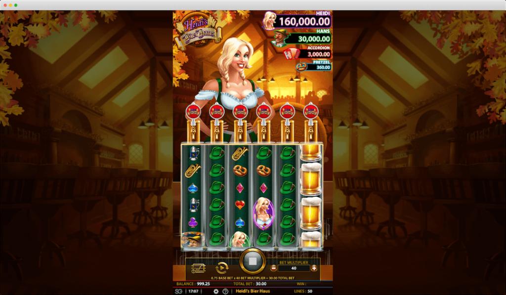 Heidi's Bier Haus Slot Game lobby