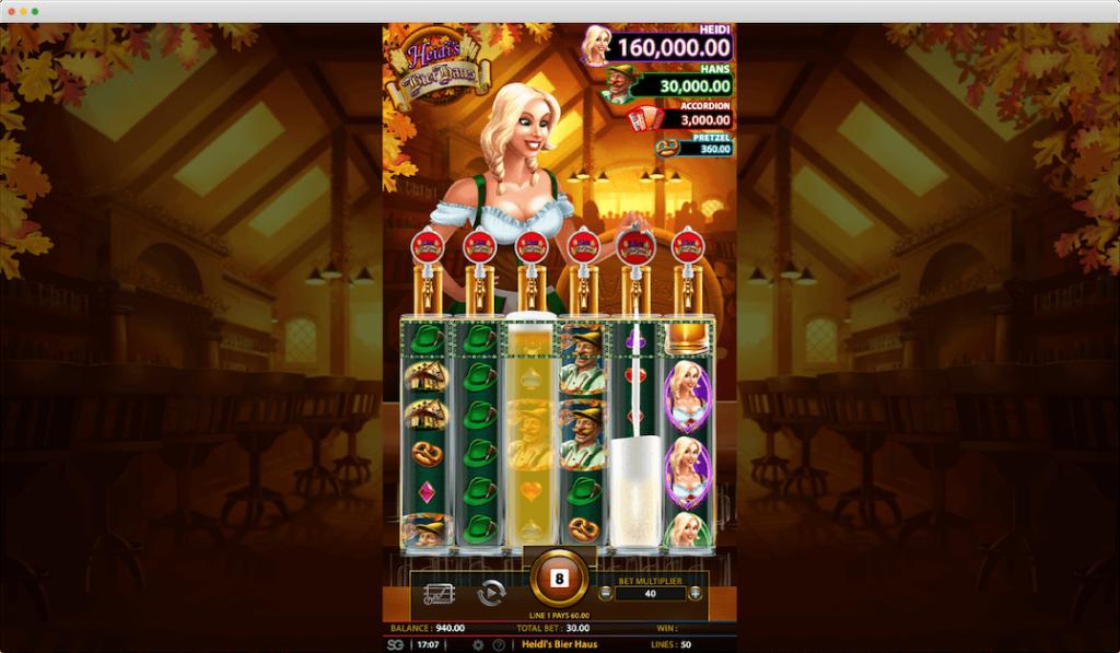 Heidi's Bier Haus Slot Game Play View