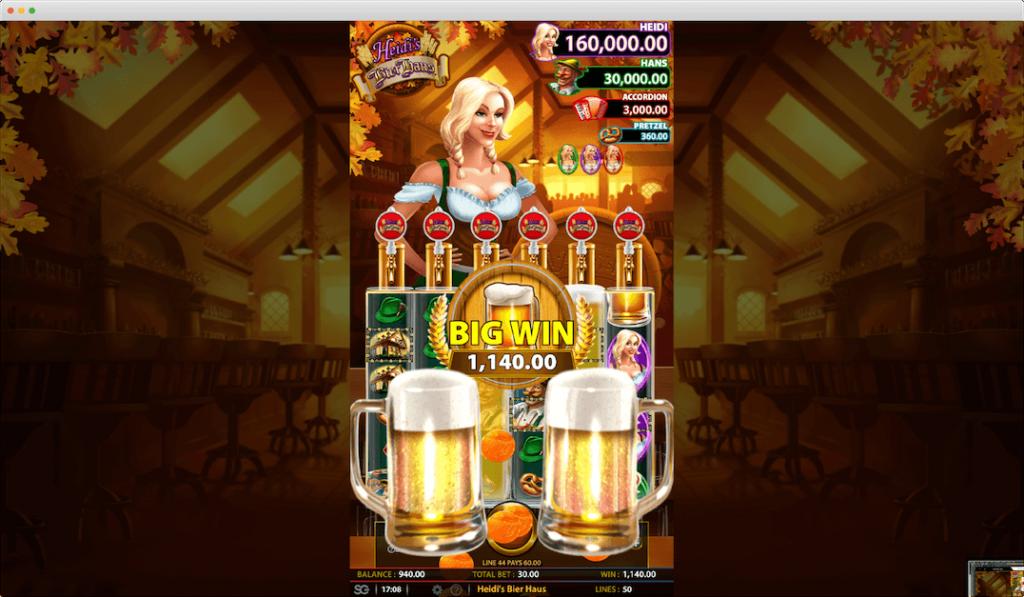 Heidi's Bier Haus Slot Big Win