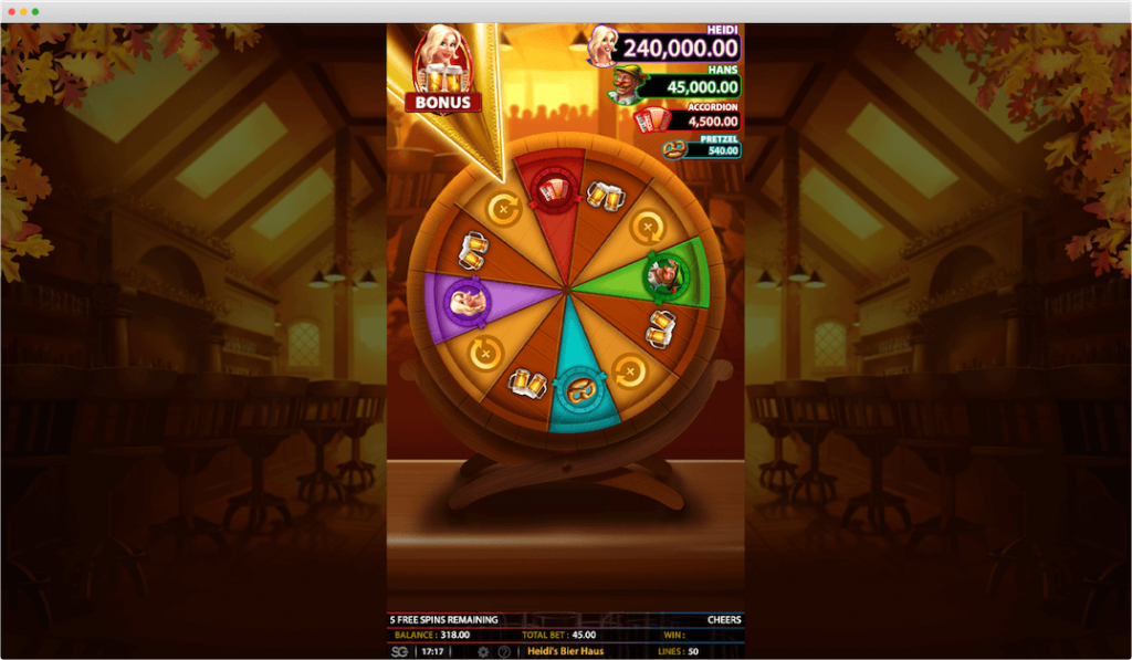 Heidi's Bier Haus Slot Bonus Game