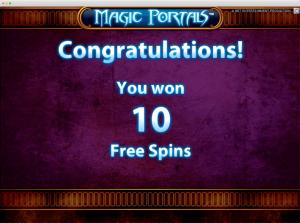 Magic portals Slot free spins
