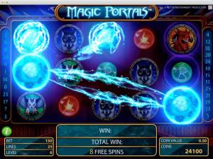 Magic portals Slot feature
