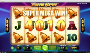 Twin Spin Slot Super Mega Win