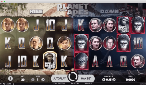 planet of the apes slot - layout