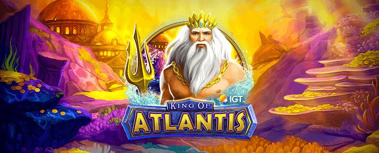 King of Atlantis slot Logo