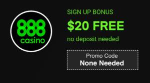 888casino no deposit bonus code