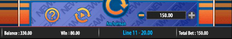 Anchorman Slot Basic Controls