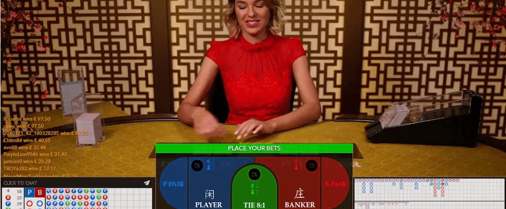 Baccarat Control Squeeze Evolution Gaming
