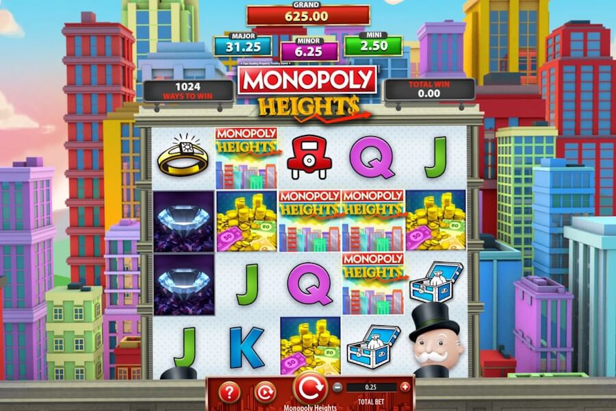 monopoly heights slot