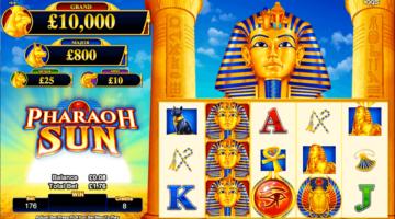 pharaoh sun slot review